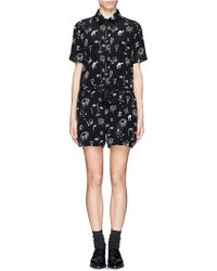Sandro Palace Scribble Print Romper - Lyst
