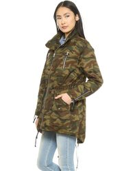 Textile Elizabeth And James Johnnie Parka  Military Green - Lyst