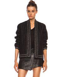 Isabel Marant Oma Quilt Shantung Gromet Silk Jacket - Lyst