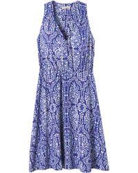 Rebecca Taylor Paisley Print V-Neck Dress - Lyst