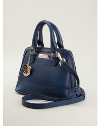 Versace Logo Charm Tote - Lyst