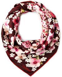 Valentino Floral Silk Scarf - Lyst
