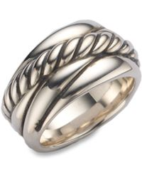 David Yurman - Sterling Silver Crossover Ring - Lyst
