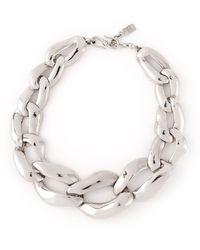 Yves Saint Laurent Vintage Gourmette Choker Necklace - Lyst