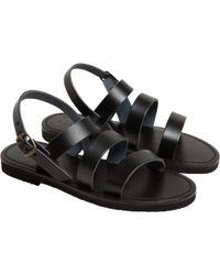 agnès b. - Black Gladiator Sandals - Lyst