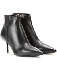 Burberry Manor Leather Ankle Boots - Lyst