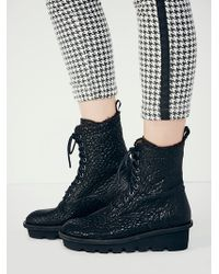 Free People Defender Lace Up Boot - Lyst