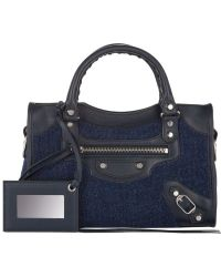 Balenciaga Flannel Classic Mini City Bag - Lyst
