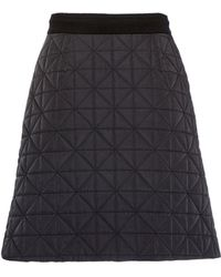 Sonia Rykiel Skirt In Quilted Nylon - Lyst