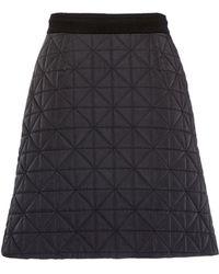 Sonia Rykiel Skirt In Quilted Nylon - Lyst