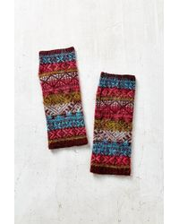 Urban Outfitters - Brushed Ski Fair Isle Fingerless Armwarmer - Lyst