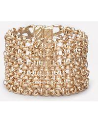 Bebe - Chainmail Magnetic Bracelet - Lyst