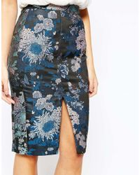 Oasis | Butterfly Jacquard Pencil Skirt | Lyst