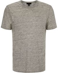 Nicole Farhi | Linen Textured Crew Neck Regular Fit T-Shirt | Lyst