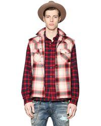 Diesel Checked Light Cotton Flannel Shirt - Lyst