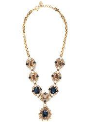 St. John - 'Ornate' Swarovski Crystal Necklace - Lyst