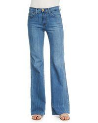 Current/Elliott T The High-Rise Girl Crush Wide-Leg Jeans - Lyst
