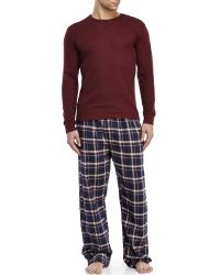 U.S. POLO ASSN. - Thermal Top & Flannel Pajama Set - Lyst