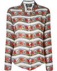 Jean Paul Gaultier Skull Print Shirt blue - Lyst