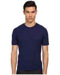 Costume National Round Neck T-Shirt blue - Lyst