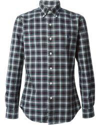 Polo Ralph Lauren Blue Checked Shirt - Lyst