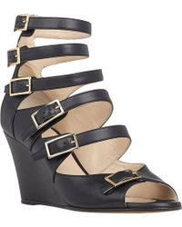 Chloé Buckle-Strap Wedge Sandals - Lyst