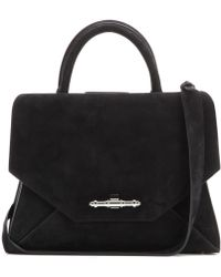 Givenchy Obsedia Small Suede Tote - Black