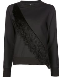 Tibi - Fringed Sweatshirt - Lyst