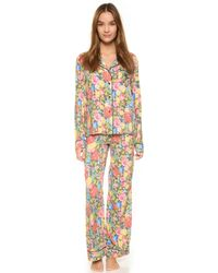 Wildfox   Flower Delivery Classic Pj Set - Flower Delivery   Lyst