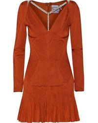 Hervé Léger Bead-embellished Bandage Dress - Lyst