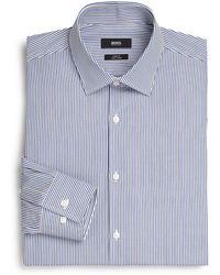 Boss by Hugo Boss Slim-Fit Striped Cotton Dress Shirt - Lyst
