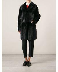 Jil Sander Black Classic Coat - Lyst