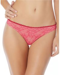 Jessica Simpson Lady In Lace Thong - Pink
