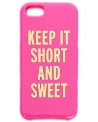 Kate Spade Keep It Short Sweet Iphone 5 5s Case Bougainvillea - Lyst