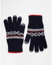 Glen Lossie - Lambswool Fair Isle Touch Gloves - Lyst