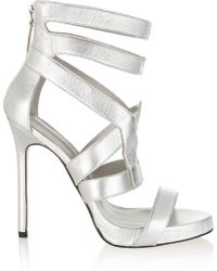 Camilla Skovgaard Metallic Leather Sandals - Lyst