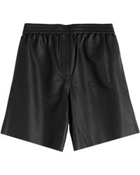 Carven Leather Shorts - Lyst