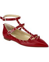 Valentino Rockstud Patent Ballet Flat - Lyst