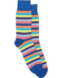 Corgi Multicolorstripe Midcalf Socks - Lyst