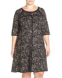 Taylor Dresses - A-Line Jacquard Dress - Lyst