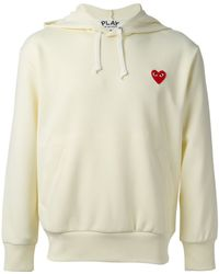 Comme Des Garçons Embroidered Logo Hoodie - Lyst