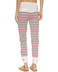 Solid & Striped - The Beach Lounge Trousers - Red/white/blue - Lyst