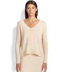Donna Karan New York Cashmere V-Neck Sweater - Lyst