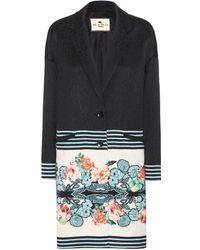 Etro Floral Print Cotton-Blend Coat - Lyst