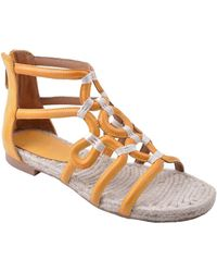 Adrienne Vittadini Pablic Leather Sandals - Orange