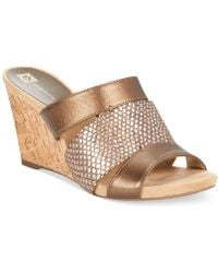 Anne Klein Loopy Wedge Sandals - Lyst