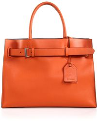 Reed Krakoff Rk40L Milled-Leather Satchel orange - Lyst
