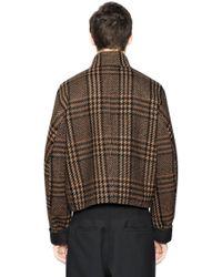 Cerruti 1881 Prince Of Wales Wool Bomber Jacket - Multicolor