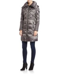 BCBGeneration Quilted Zip-front Coat - Gray