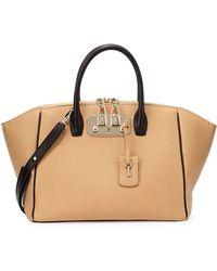 VBH Brera 32 Two-Tone Leather Satchel Bag - Lyst